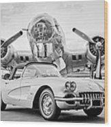 1960 Chevrolet Corvette - B-17 Bomber Wood Print