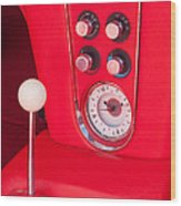 1960 Chevrolet Corvette Control Panel Wood Print