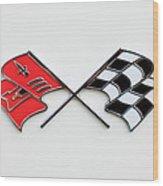 1960 Chevrolet Corvette Emblem Wood Print