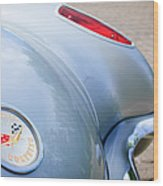 1960 Chevrolet Corvette Emblem - Taillight Wood Print by Jill Reger