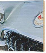 1960 Chevrolet Corvette Hood Emblem Wood Print