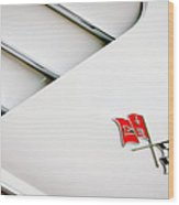 1960 Chevrolet Corvette Side Emblem Wood Print