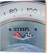 1960 Chevrolet Corvette Speedometer Wood Print by Jill Reger