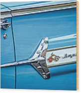 1960 Chevrolet Impala Emblem -340c Wood Print