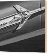 1960 Chevrolet Impala Side Emblem Wood Print