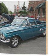 1960 Chevy El Camino Wood Print