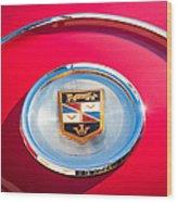 1960 Chrysler Imperial Crown Convertible Emblem Wood Print
