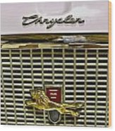 1960 Chrysler Windsor Hood Grill Wood Print