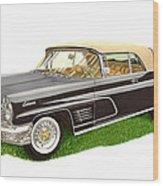 1960 Continental Convertible Wood Print