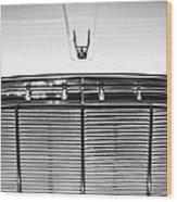 1960 Desoto Fireflite Two-door Hardtop Grille Emblem -0931bw Wood Print