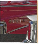 1960 Edsel Taillight Wood Print by Jill Reger