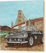 1960 Ferrari 250 California G T Wood Print