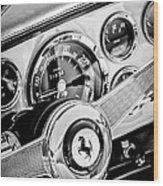 1960 Ferrari 250 Gt Cabriolet Pininfarina Series II Steering Wheel Emblem -1319bw Wood Print