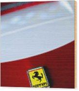 1960 Ferrari 250 Gt Swb Berlinetta Competizione Grille Emblem Wood Print by Jill Reger