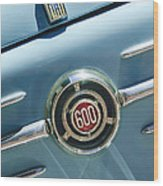 1960 Fiat 600 Jolly Emblem Wood Print