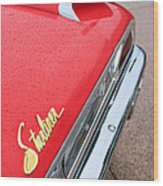 1960 Ford Galaxie Starliner Taillight Emblem Wood Print