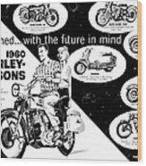 1960 Harley Davidson  Wood Print