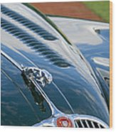 1960 Jaguar Xk 150s Fhc Hood Ornament 3 Wood Print