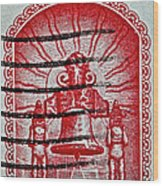 1960 Mexican Independence Stamp Wood Print