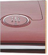 1960 Plymouth Xnr Ghia Roadster  Emblem Wood Print by Jill Reger