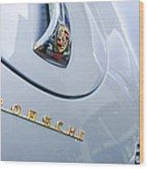 1960 Porsche 356 B 1600 Super Roadster Hood Emblem Wood Print