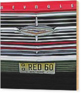 1960 Red Chevy Wood Print