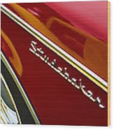 1960 Studebaker Hawk Wood Print by Carol Leigh