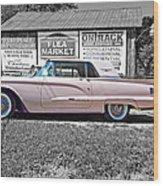 1960 Thunderbird Bw Wood Print