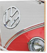 1960 Volkswagen Vw 23 Window Microbus Emblem Wood Print by Jill Reger