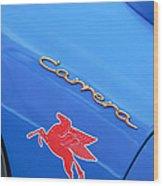 1960 Volkswagen Vw Porsche 356 Carrera Gs Gt Replica Emblem Wood Print