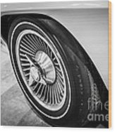 1960's Chevrolet Corvette C2 Spinner Wheel Wood Print by Paul Velgos