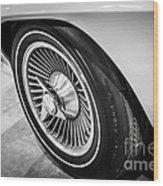 1960's Chevrolet Corvette C2 Spinner Wheel Wood Print