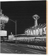 1960s Night Scene Of The Stardust Wood Print