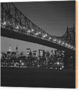 1960s Queensboro Bridge And Manhattan Wood Print