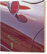 1961 Alfa Romeo Giulietta Sprint Speciale Emblem Wood Print