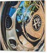 1961 Alfa Romeo Giulietta Sprint Speciale Wheel Emblem -0051c Wood Print