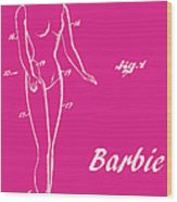 1961 Barbie Doll Patent Art 1 Wood Print
