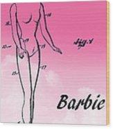 1961 Barbie Doll Patent Art 2 Wood Print