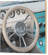 1961 Buick Two Door Sedan Dashboard Wood Print