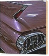 1961 Cadillac Coupe 62 Taillight Wood Print