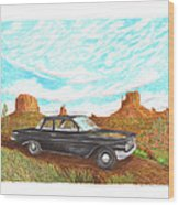 1961 Chevrolet Biscayne 409 In Monument Valley Wood Print