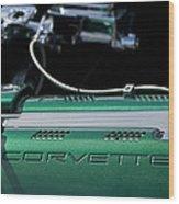 1961 Chevrolet Corvette Engine Wood Print