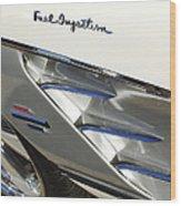 1961 Chevrolet Corvette Side Emblem 3 Wood Print