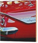 1961 Chevrolet Impala Taillight Emblem Wood Print