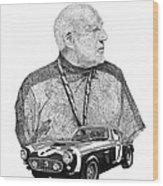 Sir Stirling Moss 1961 Ferrari G T 250 Wood Print