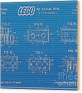 1961 Lego Building Blocks Patent Art 1 Wood Print