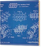 1961 Lego Building Blocks Patent Art 3 Wood Print