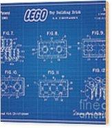 1961 Lego Building Blocks Patent Art 4 Wood Print