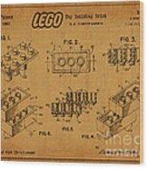 1961 Lego Building Blocks Patent Art 5 Wood Print
