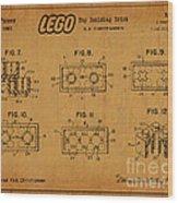 1961 Lego Building Blocks Patent Art 6 Wood Print